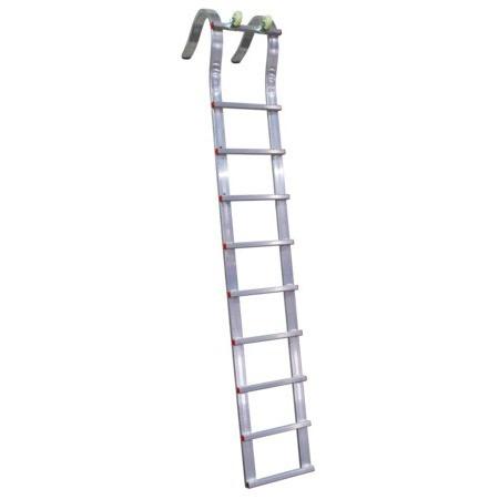 Roofer roller hook ladder